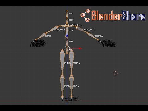 How to show the names of bones on an armature in Blender 2.77 - YouTube