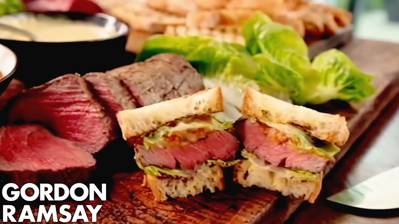 The Ultimate Steak Sandwich - Gordon Ramsay - YouTube