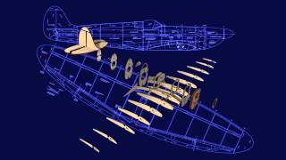 Rc Model Plan Mw3201: Supermarine Spitfire Ix