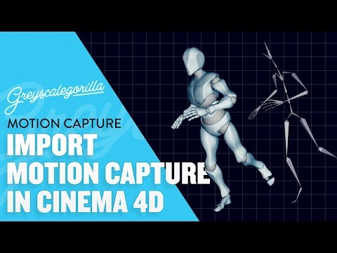 Cinema 4D Tutorial - Import Motion Capture Data Into Cinema 4D