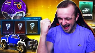 BLACK DIECI ARE IN DROPS!   Opening ALL My Drops, Trading Up My Inventory \u0026 MORE in Rocket League!