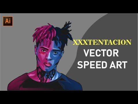 XXXTENTACION VECTOR ART | SPEED ART | ADOBE ILLUSTRATOR