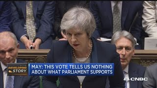 Parliament soundly rejects PM Theresa May