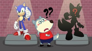 Wolf Family  Wolfoo And His Friend Play Sonic Game