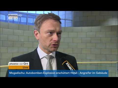 Kanzlerkandidat der SPD steht fest: Christian Lindner zu Martin Schulz am 25.01.2017