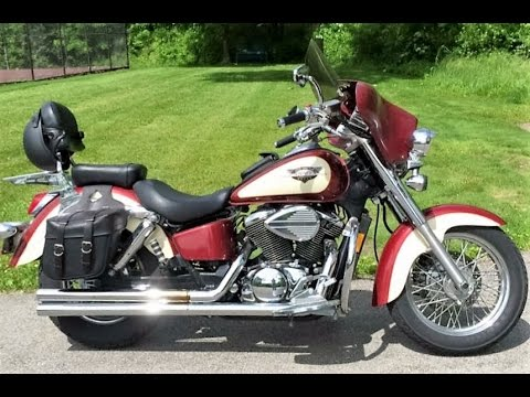 1998 Honda Shadow 750 Ace Deluxe Vt750cd With Batwing Fairing Youtube