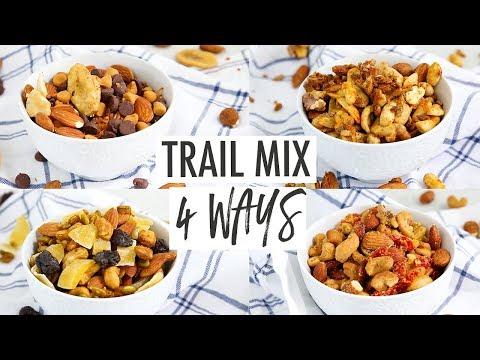 Healthy Trail Mix Recipes 4 Ways