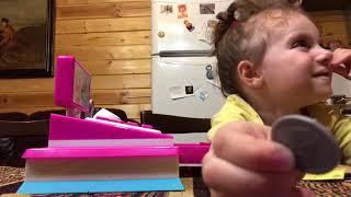 Игрушечная касса Barbie!!Обзор делает Таисия!!!