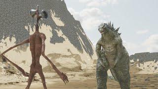 Siren Head VS Godzilla