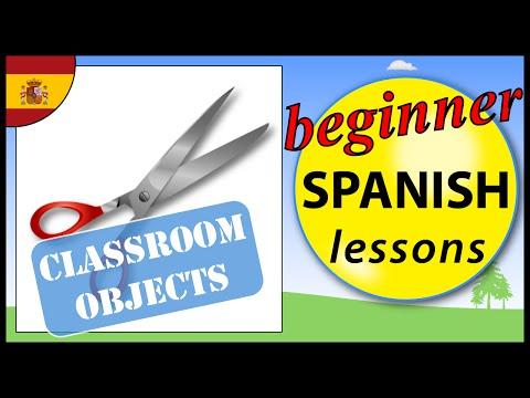 Classroom objects in Spanish | Beginner Spanish Lessons for Children
