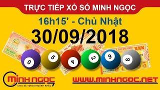 Xổ số Minh Ngọc™ Chủ Nhật 30/09/2018 - Kênh chính thức từ Minhngoc.net.vn