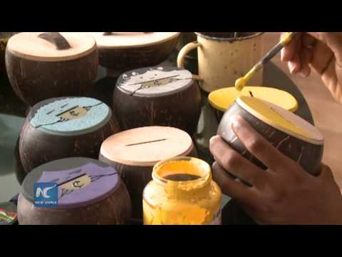 Craft products from coconut shells