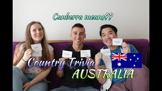 Country Trivia: Australia - What does Canberra mean?