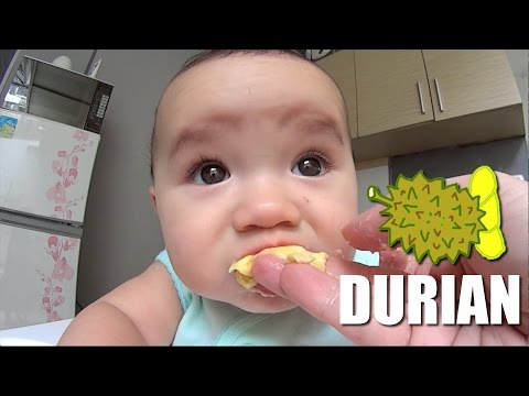Baby Zee Tries Durian