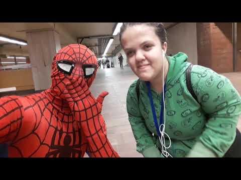 Spiderman montreal avec le monde 🌏📸🕸🤗