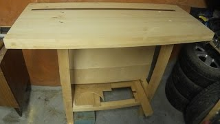 Simple workbench. Простой верстак.(How to make a workbench. Tabletop is glued together from three furniture panels. Сделал простой столярный верстак в гараж. Ножки верстака и..., 2015-02-11T08:30:21.000Z)
