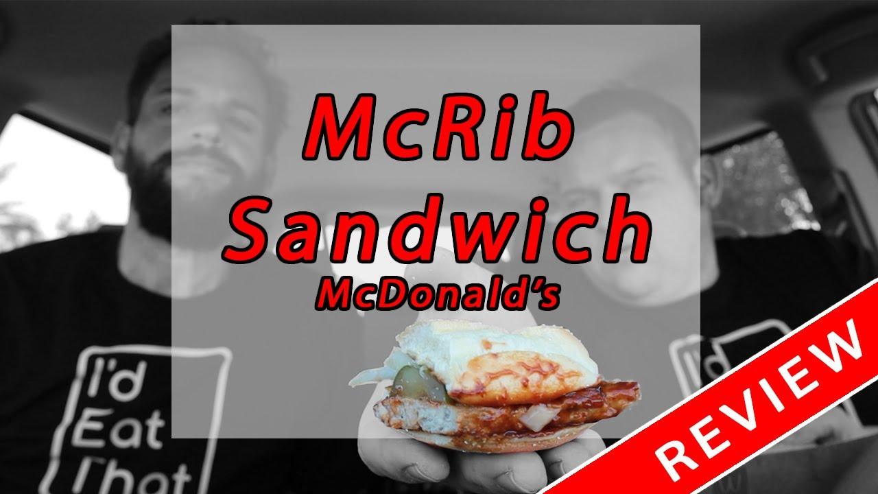 McRib Sandwich Review