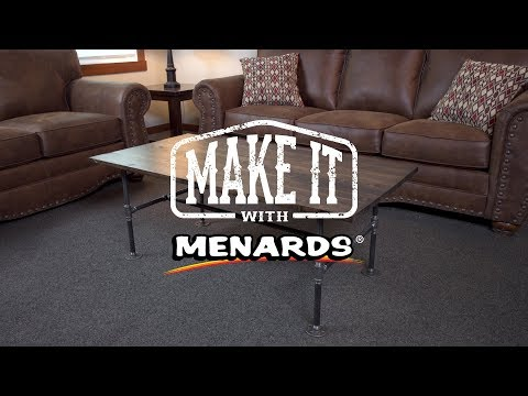 Industrial Pipe Coffee Table - Make It With Menards
