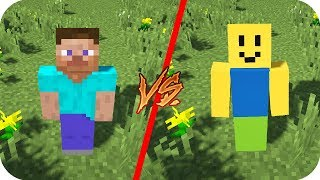 Casa Minecraft VS Casa Roblox - Minecraft