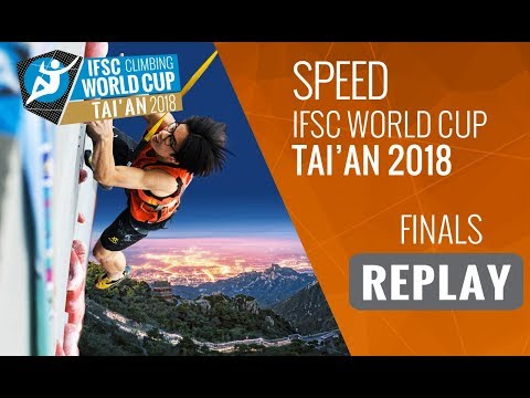 IFSC Climbing World Cup Tai'an 2018 - Speed - Finals - Men/Women