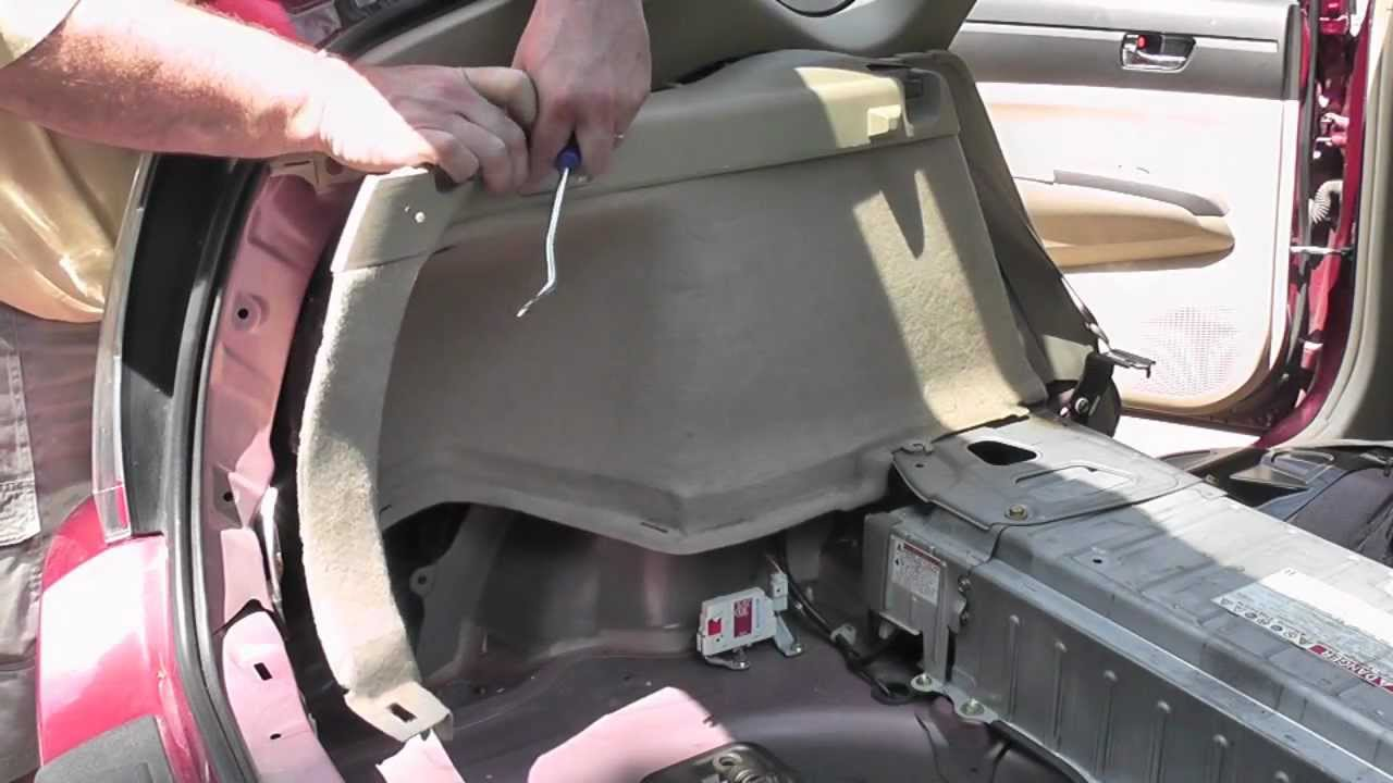 toyota prius gen ii hybrid battery replacement part 1 of 3 youtube. Black Bedroom Furniture Sets. Home Design Ideas