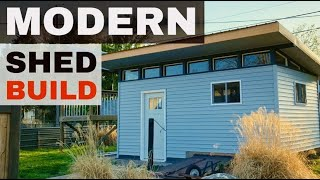 Modern Shed Build With Natural Light & Skillion Roof
