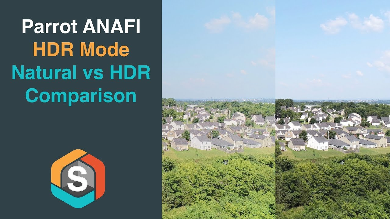 How does HDR video Compare to Natural - Parrot ANAFI footage