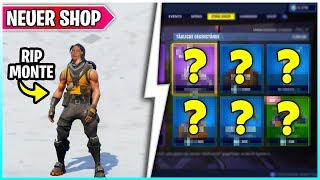😨 RIP MONTE... his Skin in the Fortnite Shop from 25.02 🛒 Fortnite Battle Royale & Save the World