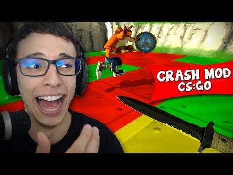 NOVO MODO DO CS:GO COM CRASH BANDICOOT NO MEIO!!!