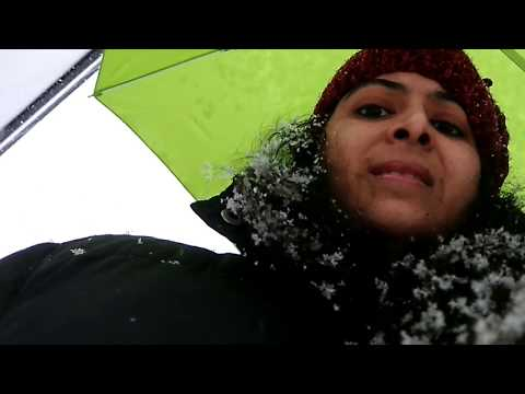 German Snow 2018/Snowfall In Germany/My First Snow Experince In Germany/winters In Germany/Vlogmas