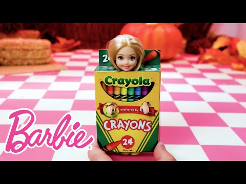 Barbie and Friends Make DIY Halloween Costumes with Help from Crayola | Barbie