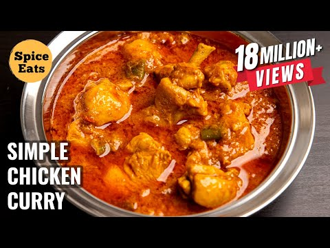 CHICKEN CURRY FOR BACHELORS | SIMPLE CHICKEN CURRY FOR BEGINNERS | CHICKEN GRAVY