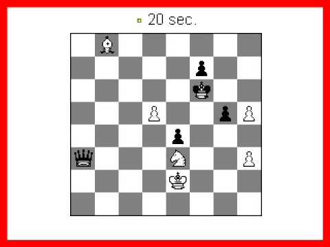 Chess Puzzle: Win the Queen in 3 Moves