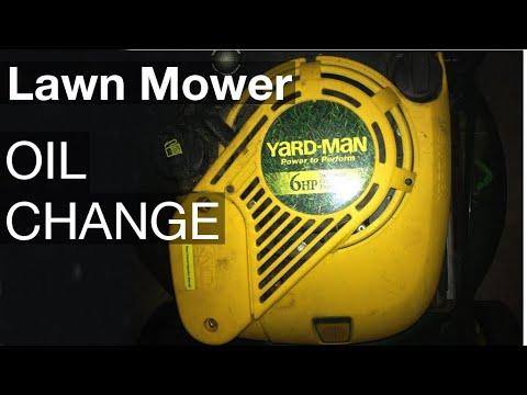 Lawn Mower Oil Change Youtube