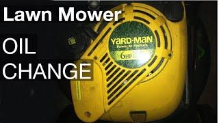 Yard-Man Lawn mower oil change