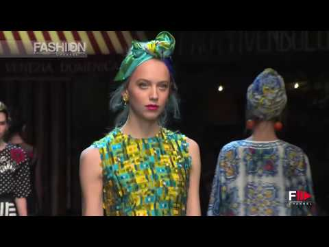 DOLCE & GABBANA Spring Summer 2016 Full Show Milan by Fashion Channel