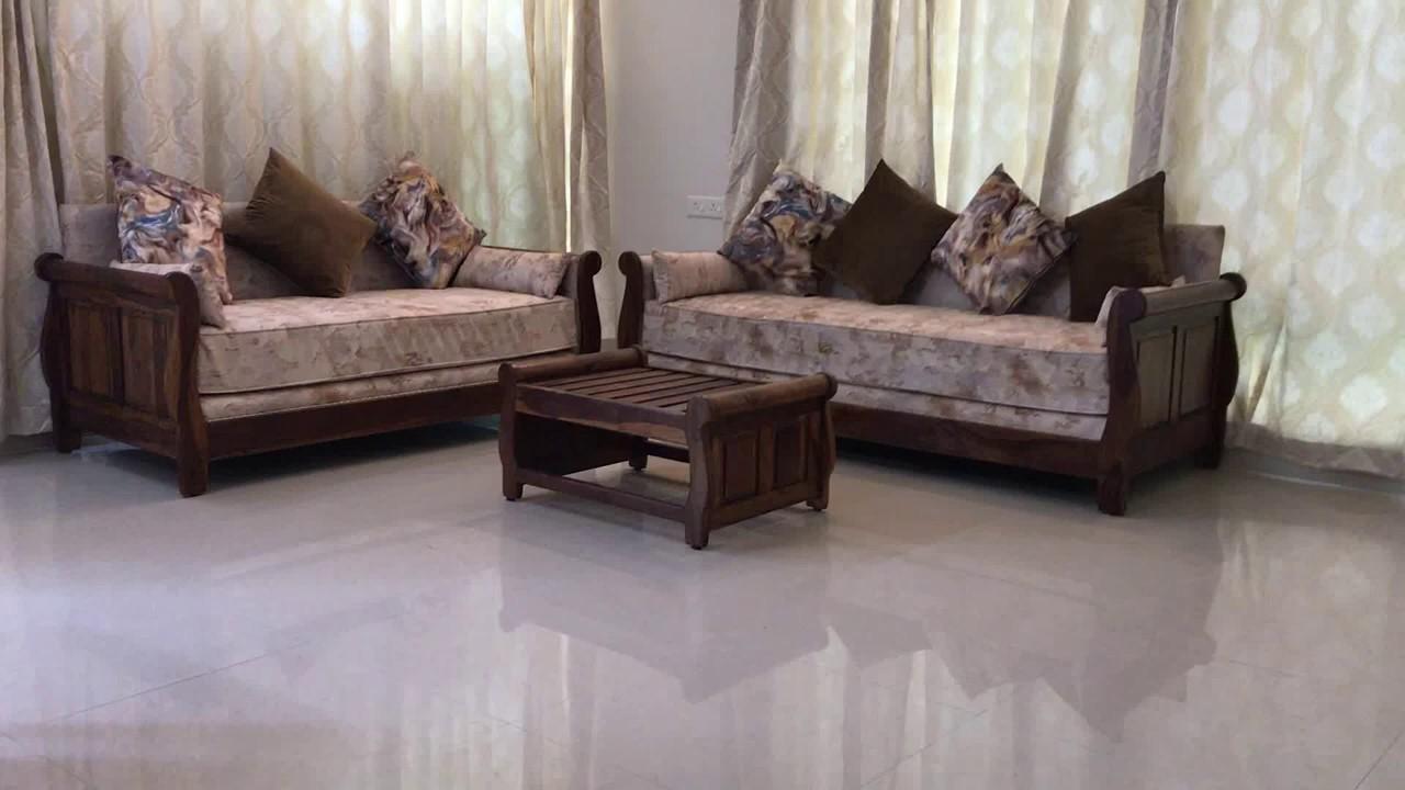 Shaurya - wooden sofa (Solid Sheesham Wood) Indian ...