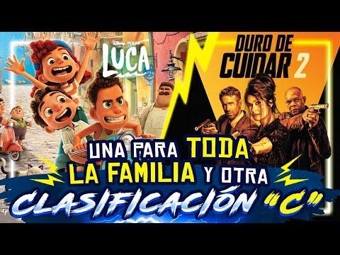 LUCA de Pixar y DURO DE CUIDAR 2 con Ryan Reynolds, Salma Hayek y Samuel L. Jackson