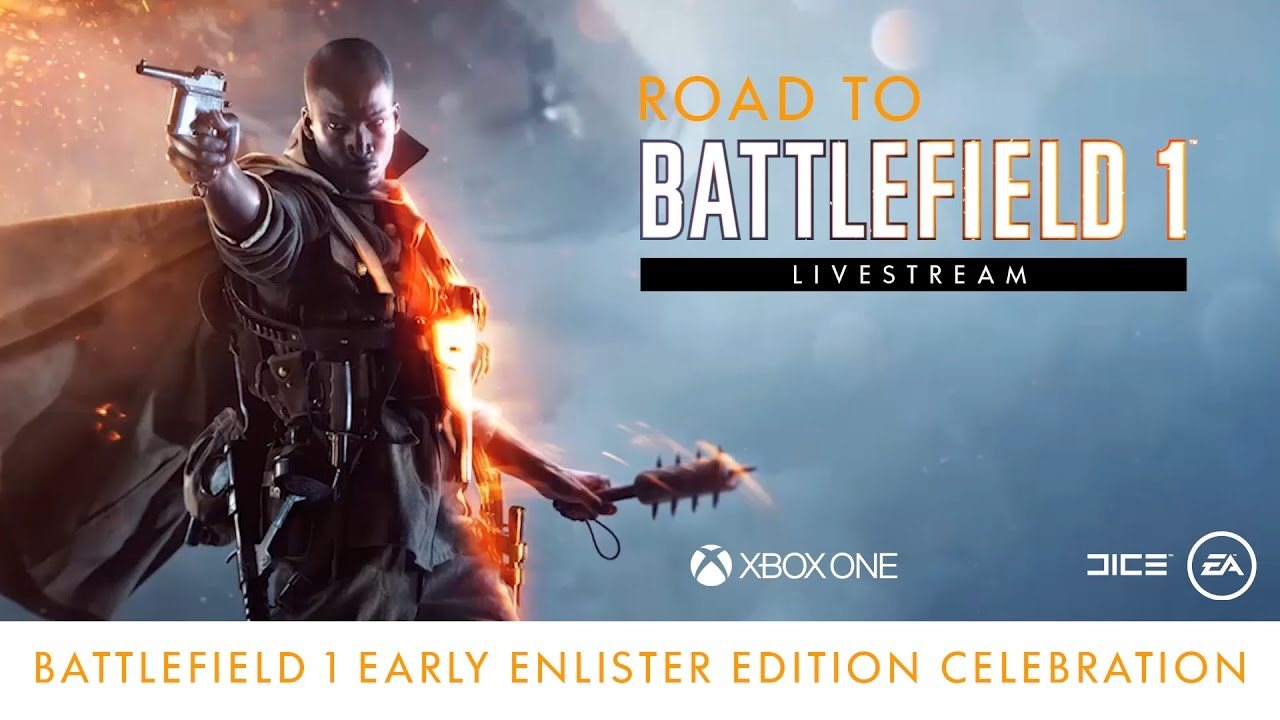 Road to Battlefield 1 - Only in Battlefield Moments – Early Enlister Edition Celebration - ee the best Only in Battlefield Moments captured so far from the Battlefield community and play with GiantWaffle, hosted by Jose Sanchez.