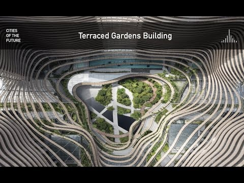 Terraced Gardens Building Create Microclimate by Ingenhoven Architects