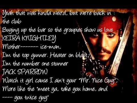 Jack Sparrow - The Lonely Island ft. Michael Bolton (Lyrics Onscreen, HD)