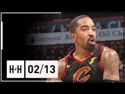 JR Smith Full Highlights Cavaliers vs Thunder (2018.02.13) - 18 Points!