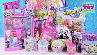 LOL Lil Sisters Disney Trolls Num Noms Shopkins Surprise Backpack Toy Review | PSToyReviews