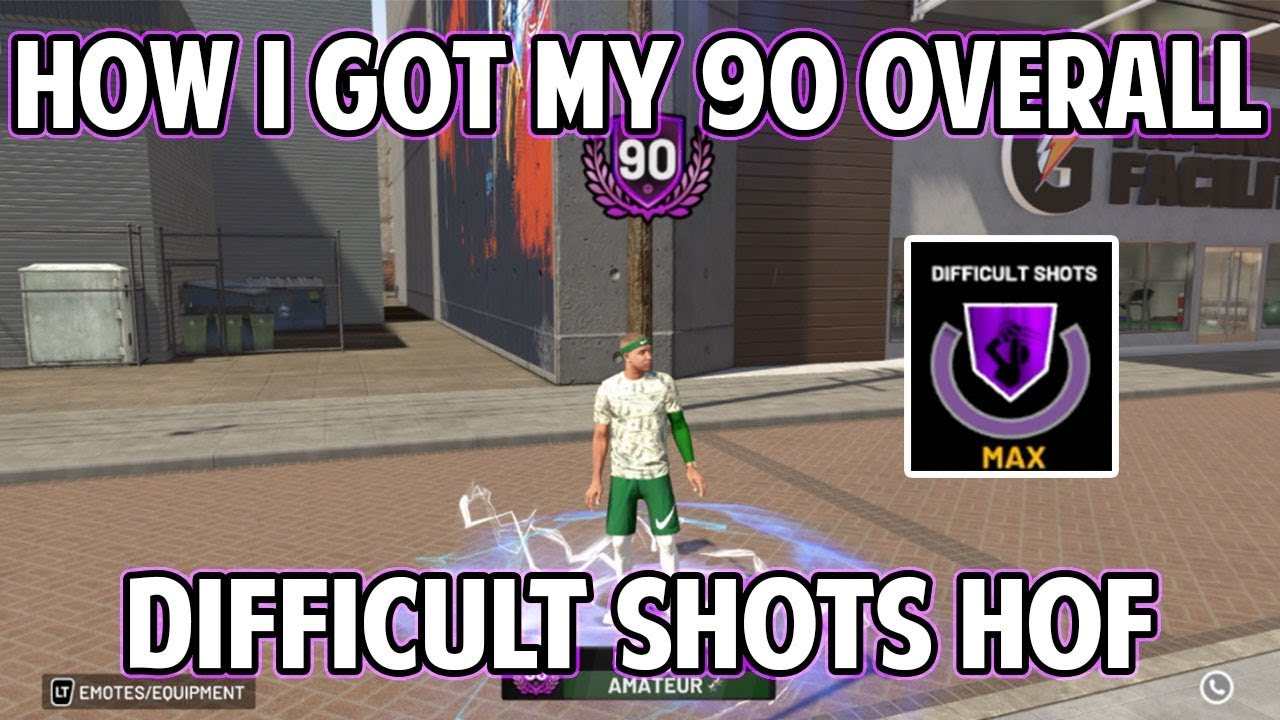 NBA 2K19 HOW I GOT TO 90 OVERALL QUICK AND GOT DIFFICULT SHOTS ON HALL OF  FAME!