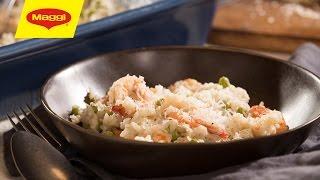 MAGGI Recipes: Shrimp Risotto وصفات ماجي: ريزوتو بالروبيان
