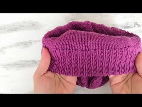 Как связать спицами шапку с подкладом