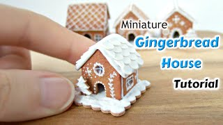 Miniature Gingerbread House Polymer Clay Tutorial - Dolls House Food