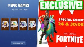 NEW *EXCLUSIVE* FREE FORTNITE REWARDS FOR NEW IRL FORTNITE EVENT!