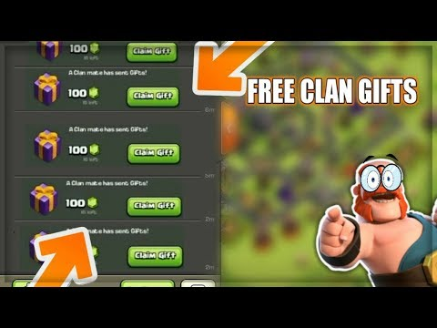 FREE CLAN GIFTS IN COC l THINGS PLAYER LOVE IN CLASH OF CLAN