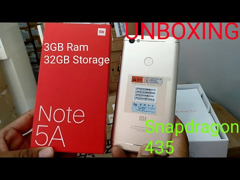 Hindi | Redmi Note 5A Unboxing 32GB 3GB Ram Snapdragon 435